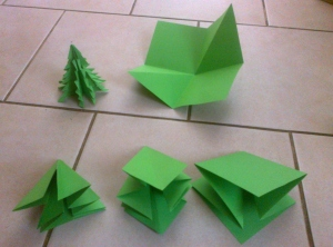 Production line making twelve trees