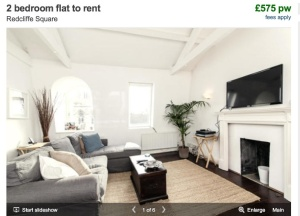 What Alex's London flat might look like