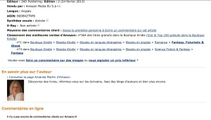 Reaching #1 in a category on Amazon.fr :)