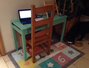 My new workstation - the kids' homework desk!