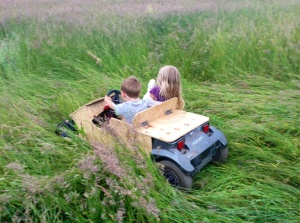 Kids and their new go-kart