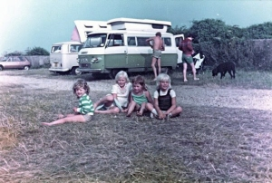 The camper vans (ours is the white one)
