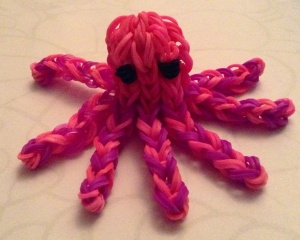 Loomband Octopus from an Izzilicious tutorial