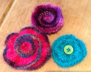 Mohair Brooches