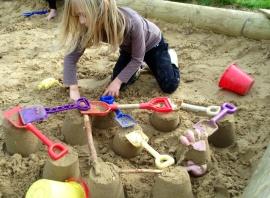 Sand castles on halloween