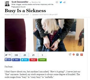 Busy is a Sickness Article