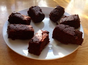 Delicious Sweet Potato Brownies (apart from the crunchy rice!)