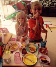 Pyjama Pancake Picnic in the Playroom