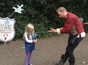 Becoming a knight at Warwick Castle