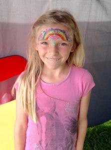 Face painting at Burghley