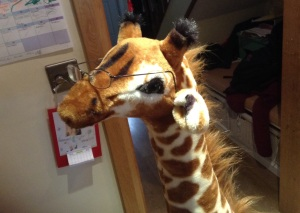 Georgina the Giraffe says write for kids!